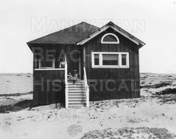Fred Horner Residence.  This was the first beach cottage in Manhattan Beach.  It was built in 1902 on a lot that was purchased for $180.  It stood at 712 Manhattan Ave. until 1987 when it was demolished.