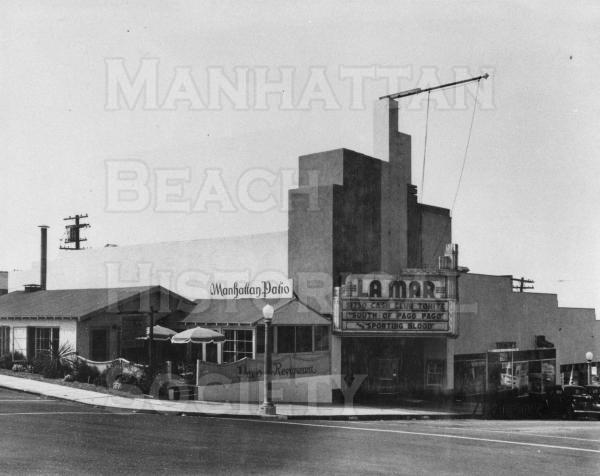 The La Mar Theater was built in 1938 for $65,000.  It was torn down in July 1981.
