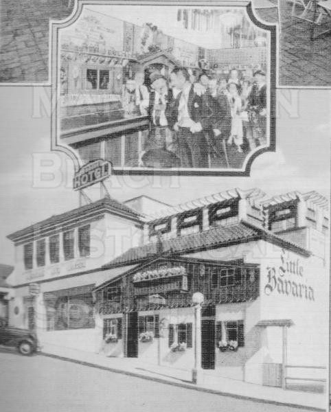 The Little Bavaria Restaurant was next to the Manhattan Inn at 128 Marine Ave. in 1913.