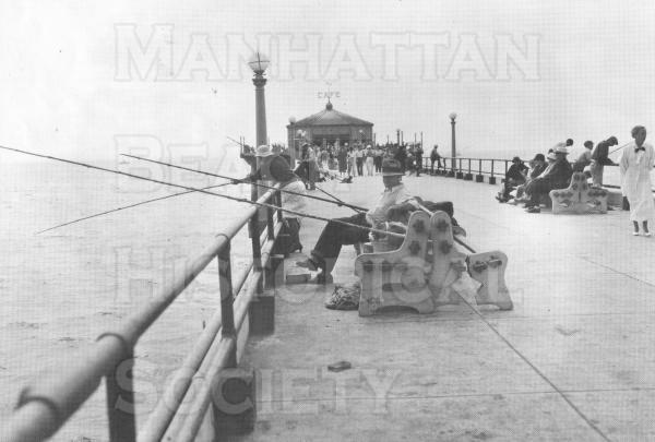 Fishing and strolling on the Pier.  Both were popular in the 1930s.