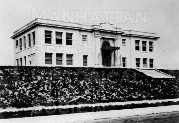 The third city hall was built during 1914/15 on land that was purchased from George Peck for $4050,00.  It was dedicated in 1916.  It was slightly damaged in the 1933 Long Beach earthquake but remained operational until the 1971 Silmar earthquake when it was declaired unsafe and was demolished.