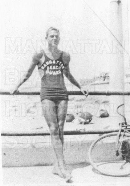 Len Flanagan was Manhattan Beach City Lifeguard in 1934.