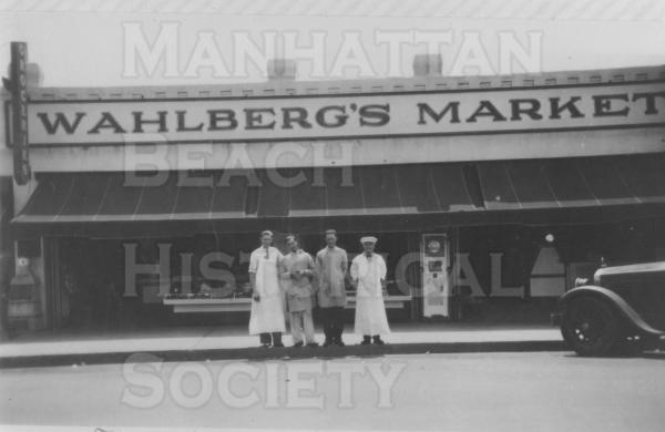 Wahlbergs Market (now Manhattan Meats at 1111 Manhattan Ave.).  Circa 1932.