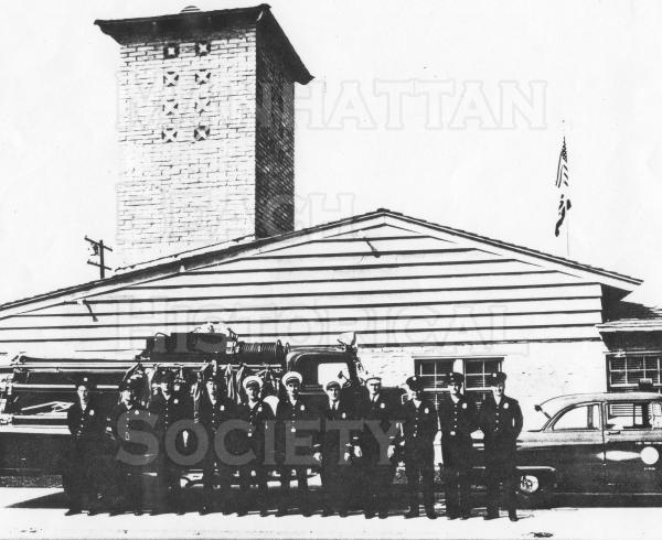 The Headquarters Fire Station of the Manhattan Beach Fire Department opened in October 1961.  It replaced the old fire station in the north annex of the city hall. It was located at 420 15th Street site of the current station.