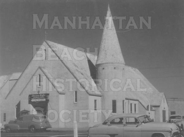 The original American Martyrs church at the SE corner of Highland Ave. at 10th St.