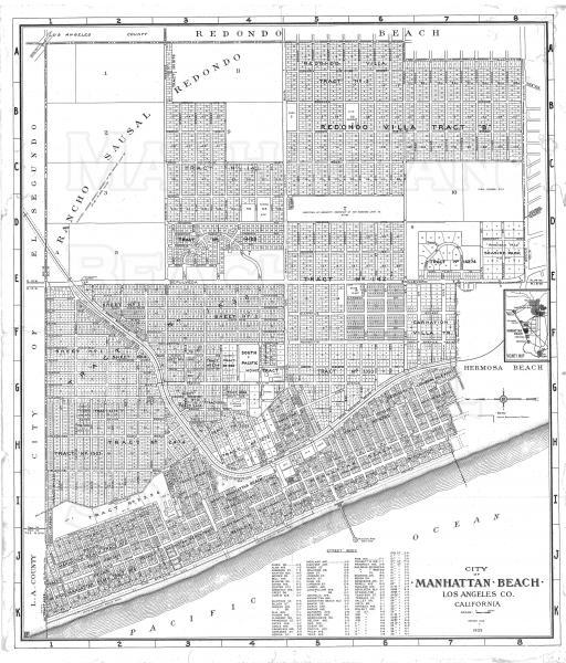1948 Manhattan Beach Map.  Note that Gould Ave. is now Artesia Blvd.