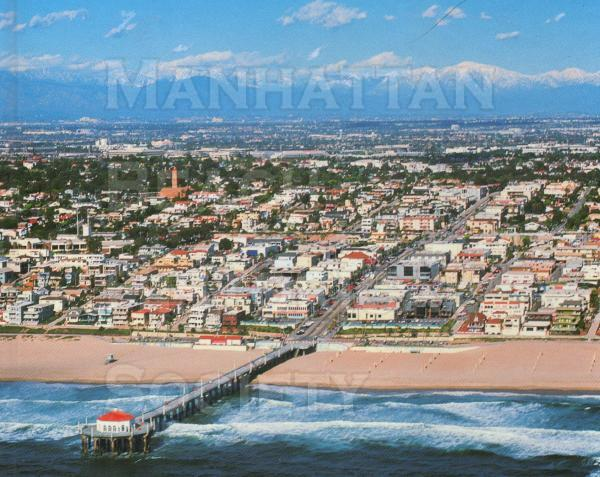 Aerial Photo of Manhattan Beach, looking NE.  Copyright by John Post.